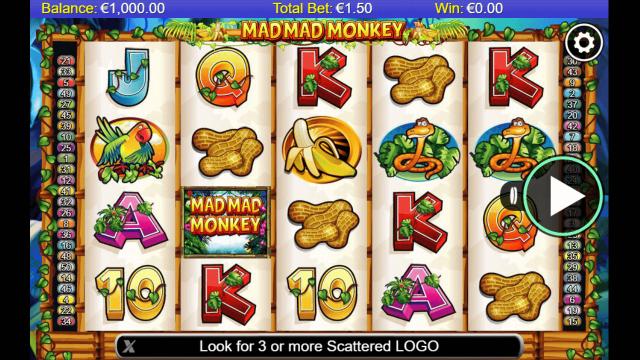 Игровой интерфейс Mad Mad Monkey 0