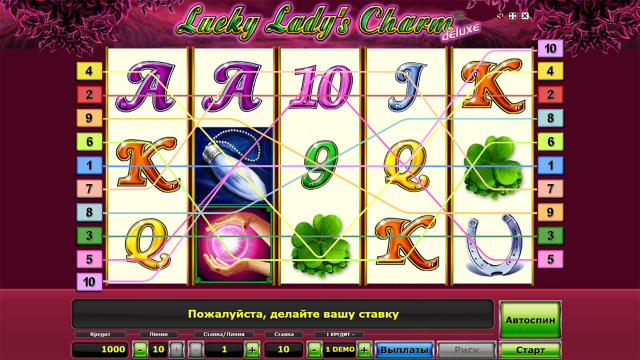Бонусная игра Lucky Lady's Charm Deluxe 0