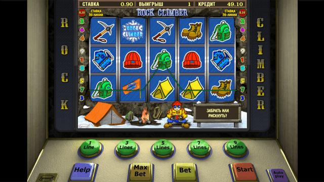 Игровой интерфейс Rock Climber 1